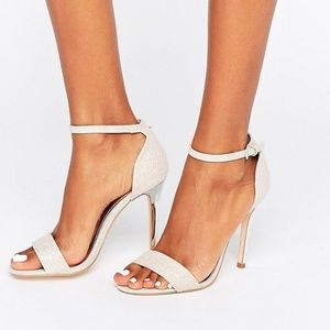 •ASOS True Decadence•Pink Glitter Sandal Heel•